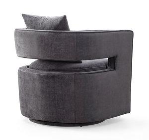 Thumbnail of TOV Furniture - Kennedy Grey Swivel Chair