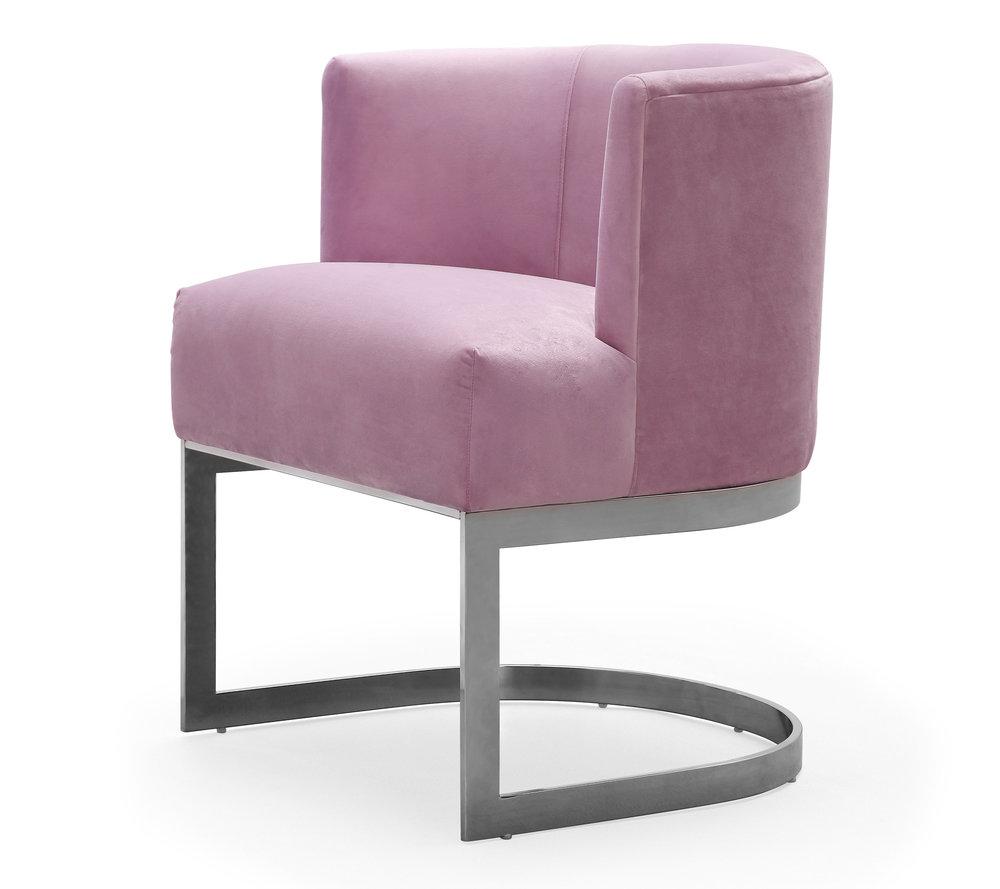 TOV Furniture - Eva Blush Velvet Chair
