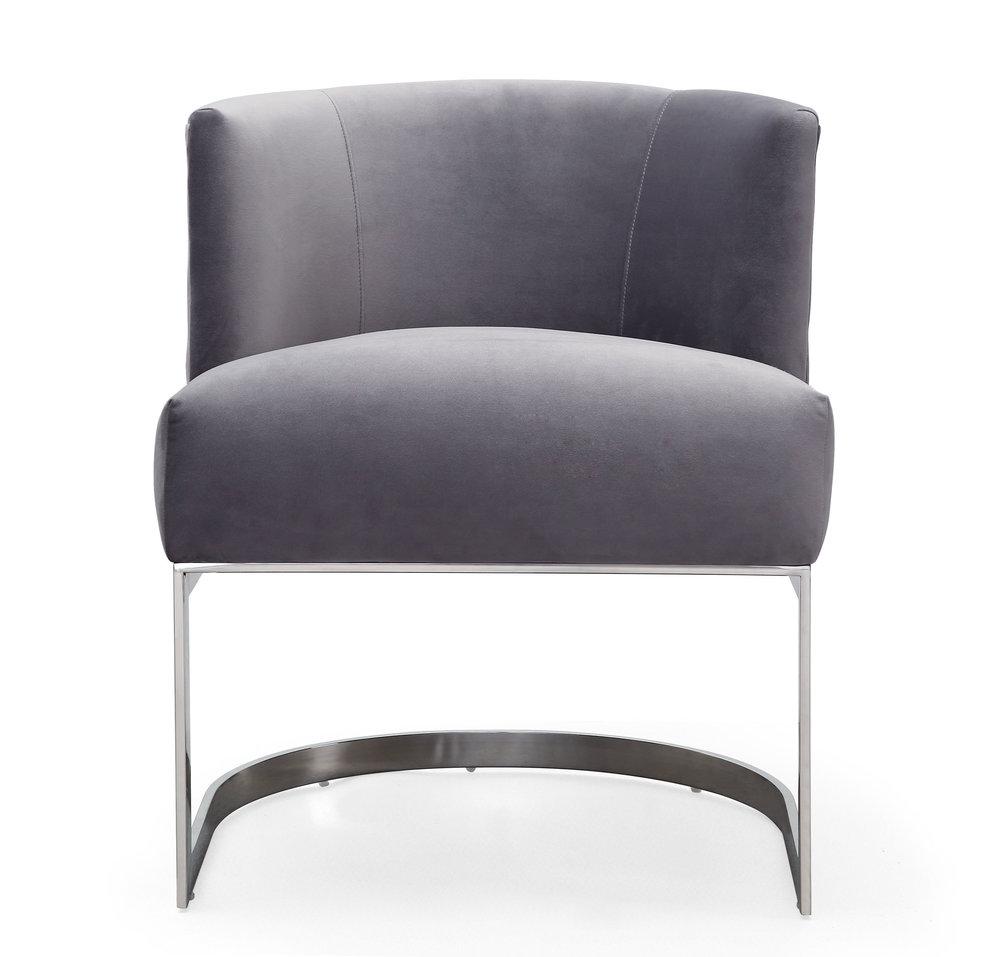 TOV Furniture - Eva Grey Velvet Chair