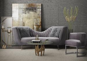 Thumbnail of TOV Furniture - Eva Grey Velvet Chair