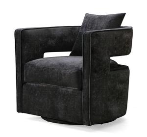 Thumbnail of TOV Furniture - Kennedy Black Swivel Chair