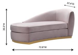 Thumbnail of TOV Furniture - Adele Blush Velvet Chaise