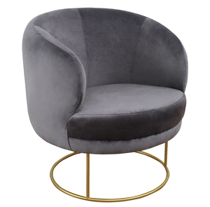 Thumbnail of TOV Furniture - Bella Grey Velvet Chair