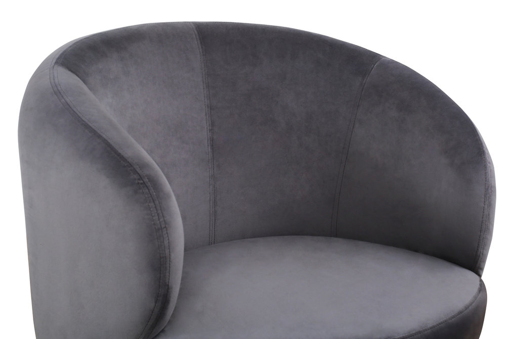TOV Furniture - Bella Grey Velvet Chair