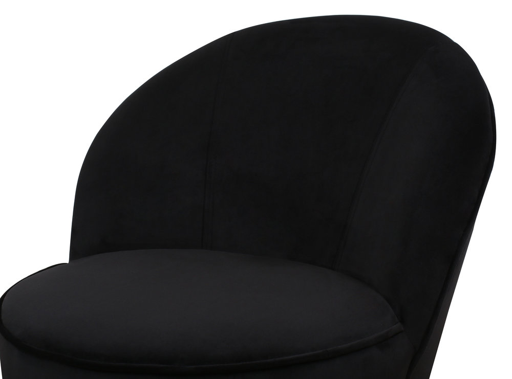 TOV Furniture - Julia Black Velvet Junior Chair