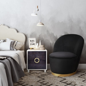 Thumbnail of TOV Furniture - Julia Black Velvet Junior Chair