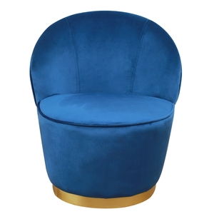 Thumbnail of TOV Furniture - Julia Navy Velvet  Junior Chair