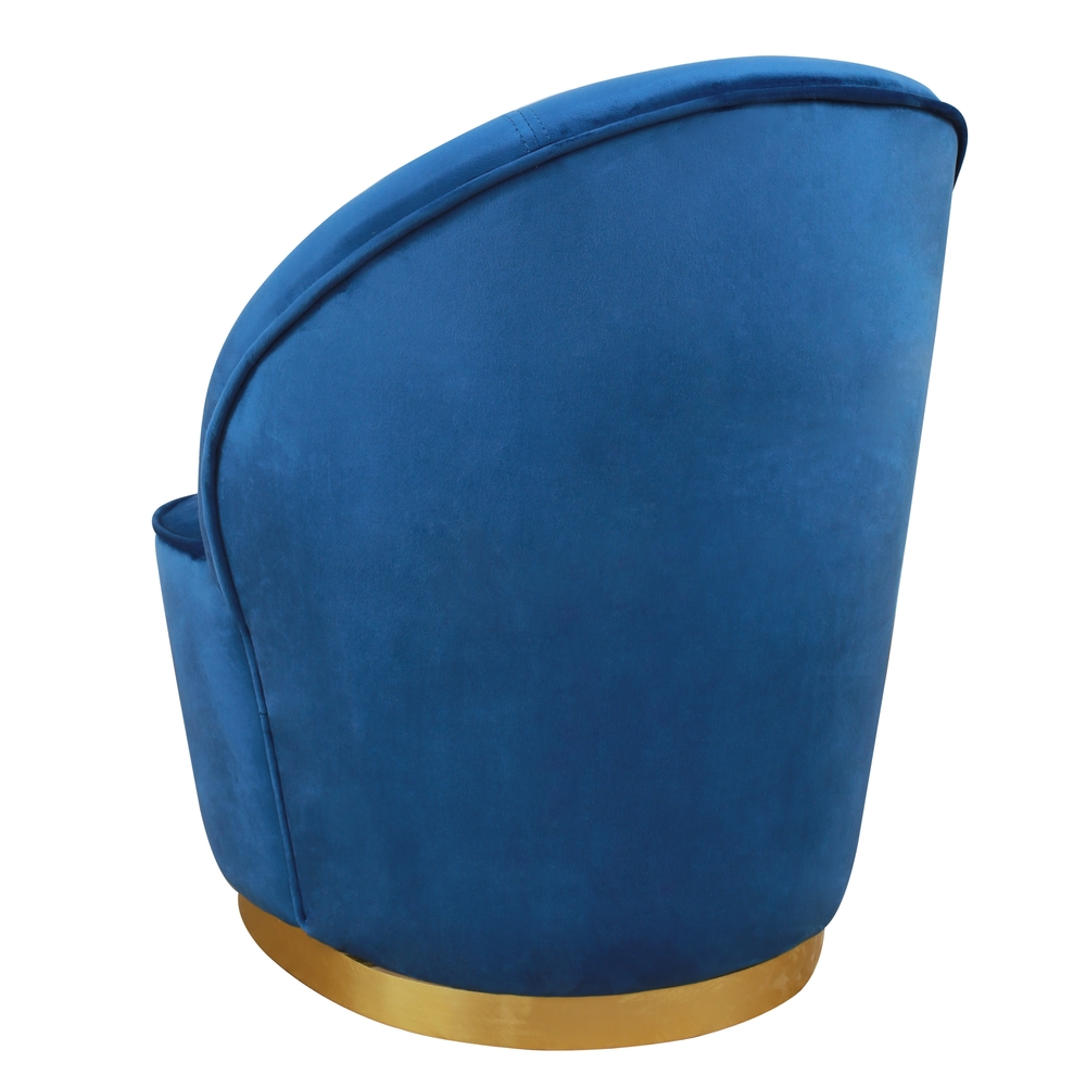 TOV Furniture - Julia Navy Velvet  Junior Chair