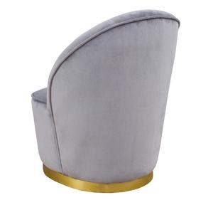 Thumbnail of TOV Furniture - Julia Grey Velvet Junior Chair
