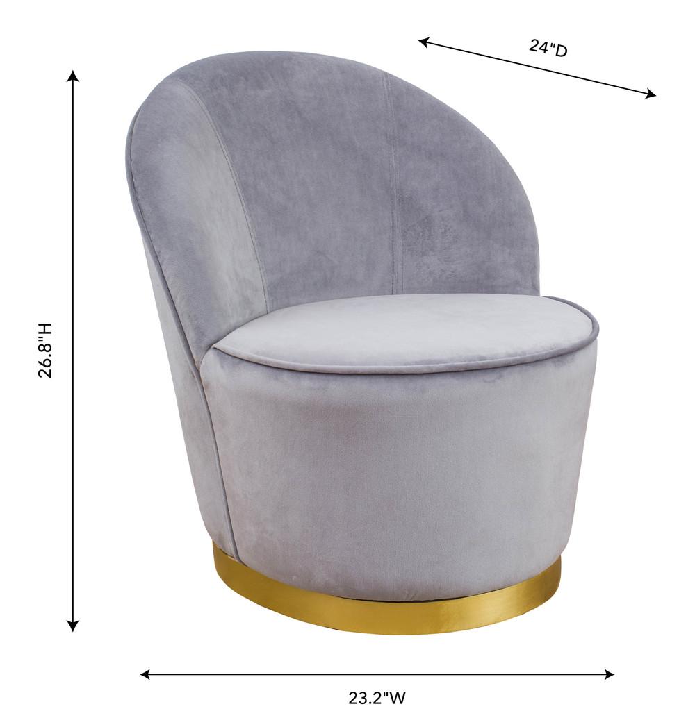 TOV Furniture - Julia Grey Velvet Junior Chair