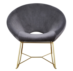 Thumbnail of TOV Furniture - Nolan Grey Velvet Chair