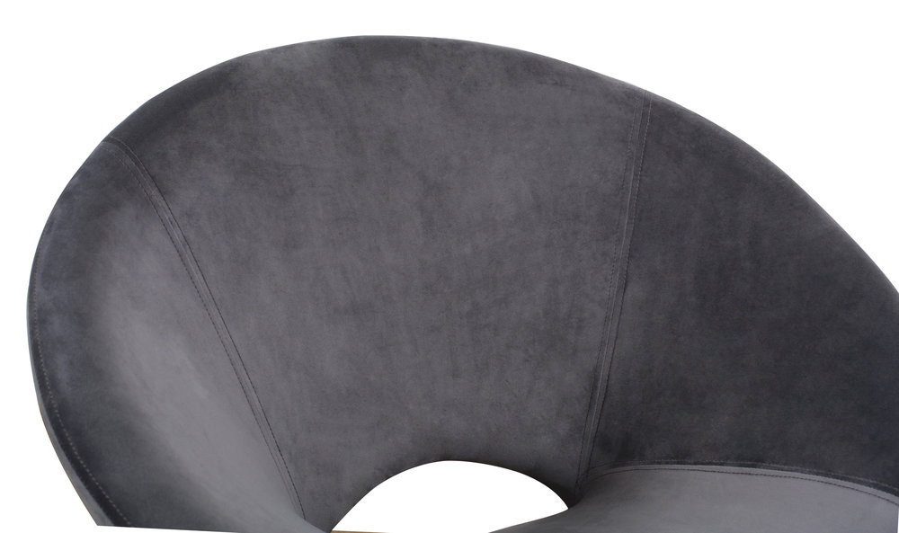 TOV Furniture - Nolan Grey Velvet Chair