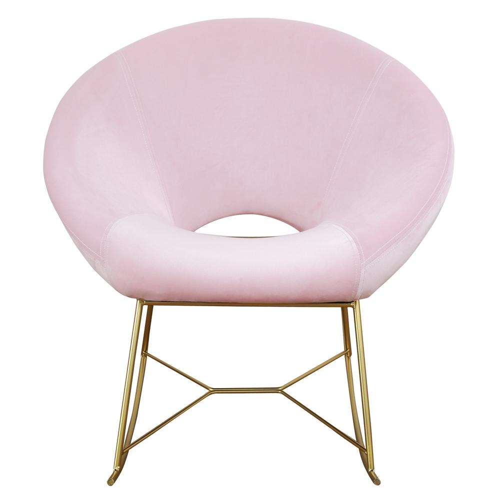 TOV Furniture - Nolan Blush Velvet Chair