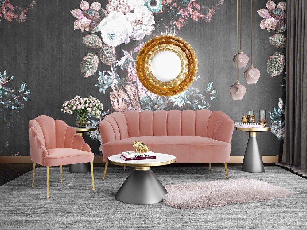 TOV Furniture - Daisy Petite Blush Velvet Chair
