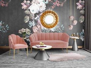Thumbnail of TOV Furniture - Daisy Petite Blush Velvet Chair
