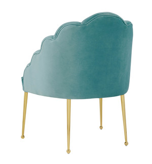 Thumbnail of TOV Furniture - Daisy Petite Sea Blue Velvet Chair