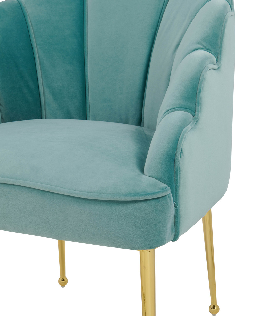 TOV Furniture - Daisy Petite Sea Blue Velvet Chair