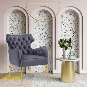 Thumbnail of TOV Furniture - Elsa Grey Vegan Leather Chair