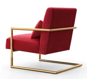 Thumbnail of TOV Furniture - Elle Pink Velvet Chair