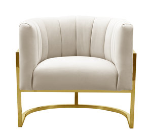 Thumbnail of TOV Furniture - Magnolia Spotted Cream Chair with Gold