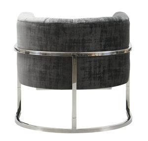 Thumbnail of TOV Furniture - Magnolia  Slub Grey Chair with Silver Base