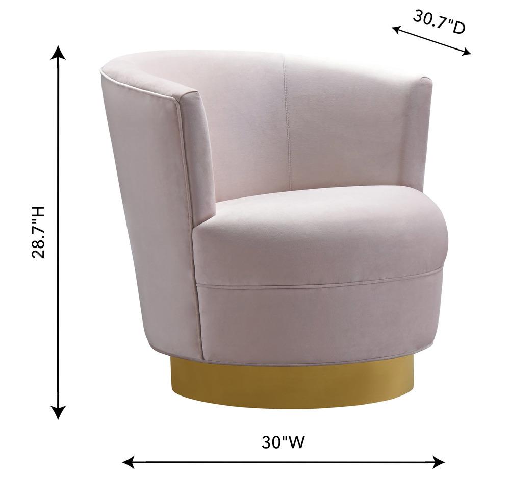TOV Furniture - Noah Blush Velvet Swivel Chair