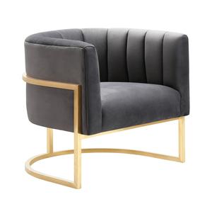 Thumbnail of TOV Furniture - Magnolia Grey Velvet  Chair