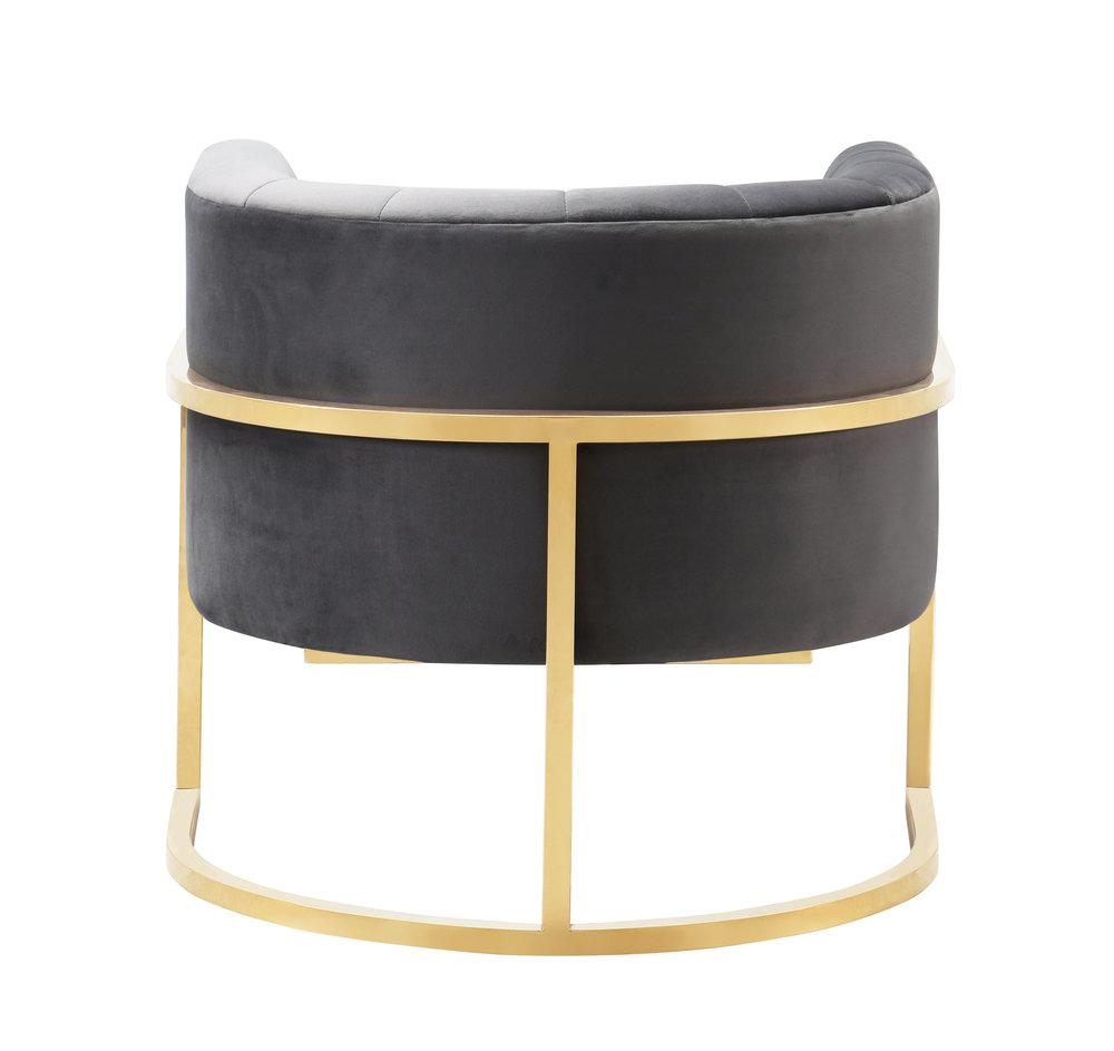 TOV Furniture - Magnolia Grey Velvet  Chair