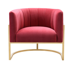 Thumbnail of TOV Furniture - Magnolia Hot Pink Velvet Chair