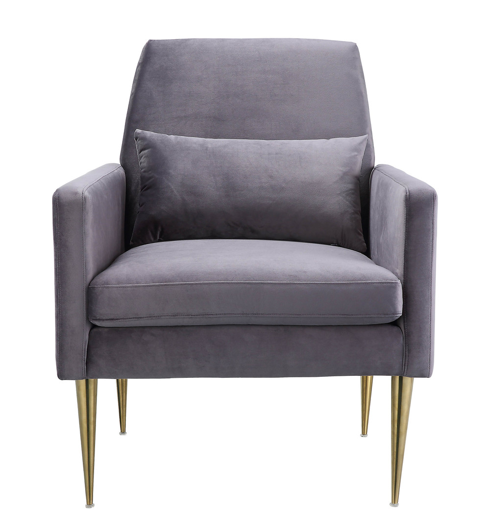 TOV Furniture - Danner Grey Velvet Chair
