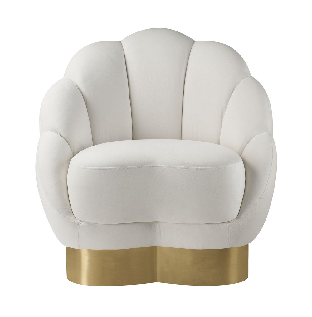 TOV Furniture - Bloom Cream Velvet Chair