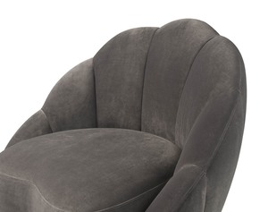 Thumbnail of TOV Furniture - Bloom Light Grey Velvet Chair