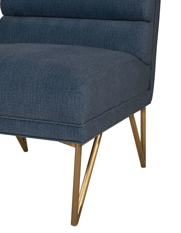 TOV Furniture - Kelly Slub Blue Velvet Chair