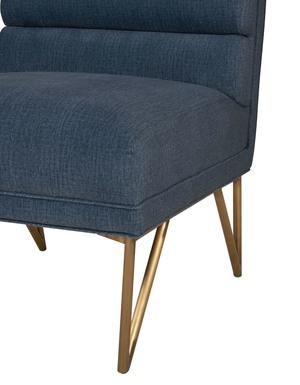Thumbnail of TOV Furniture - Kelly Slub Blue Velvet Chair