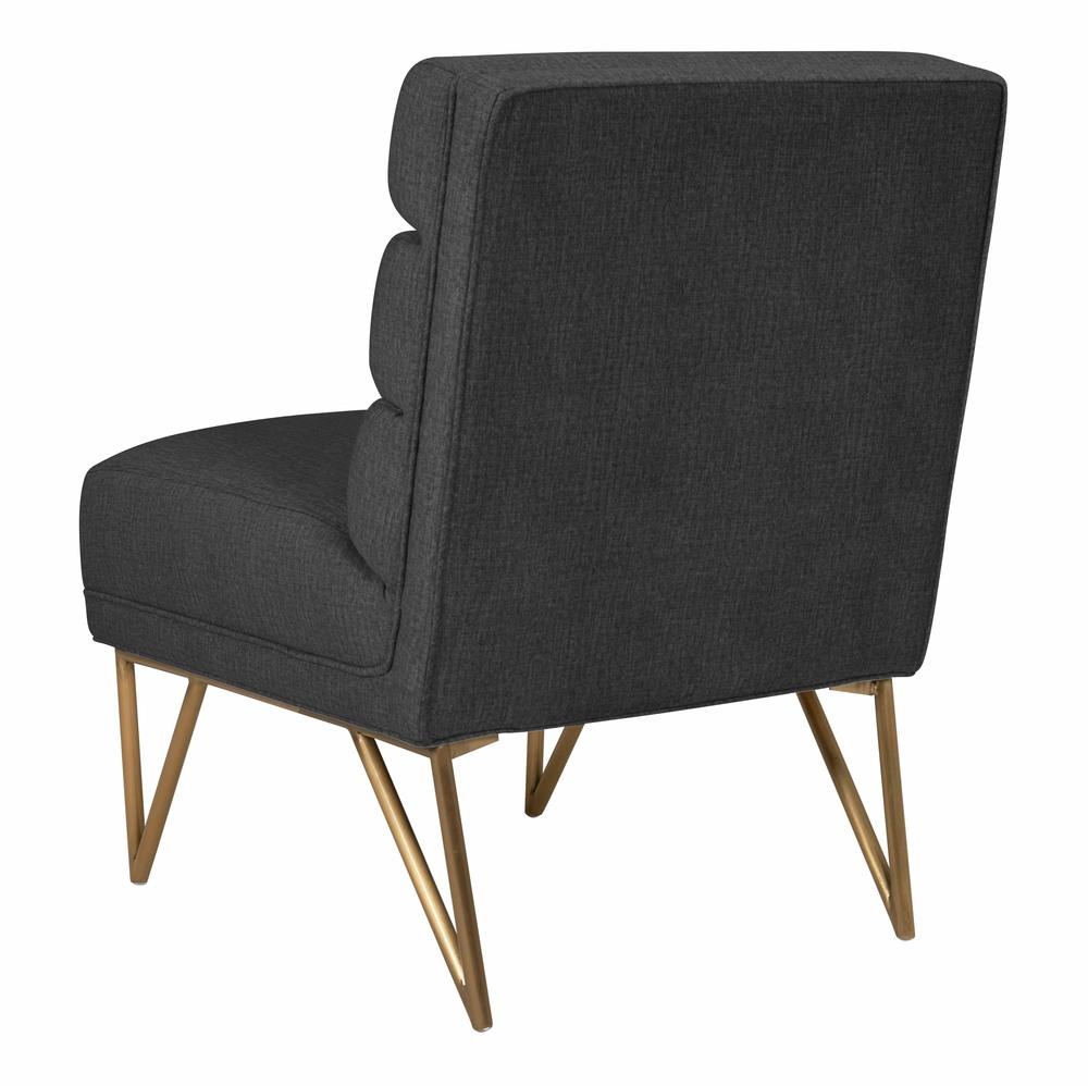 TOV Furniture - Kelly Slub Grey Velvet Chair