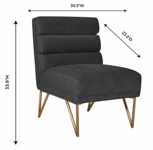 Thumbnail of TOV Furniture - Kelly Slub Grey Velvet Chair
