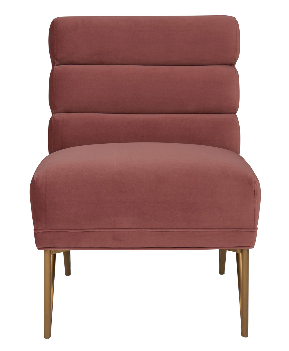 TOV Furniture - Kelly Slub Salmon Velvet Chair