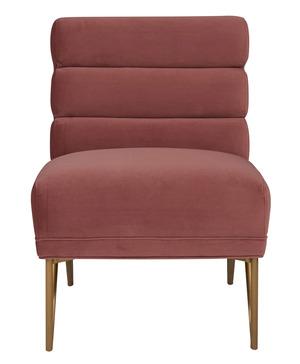 Thumbnail of TOV Furniture - Kelly Slub Salmon Velvet Chair