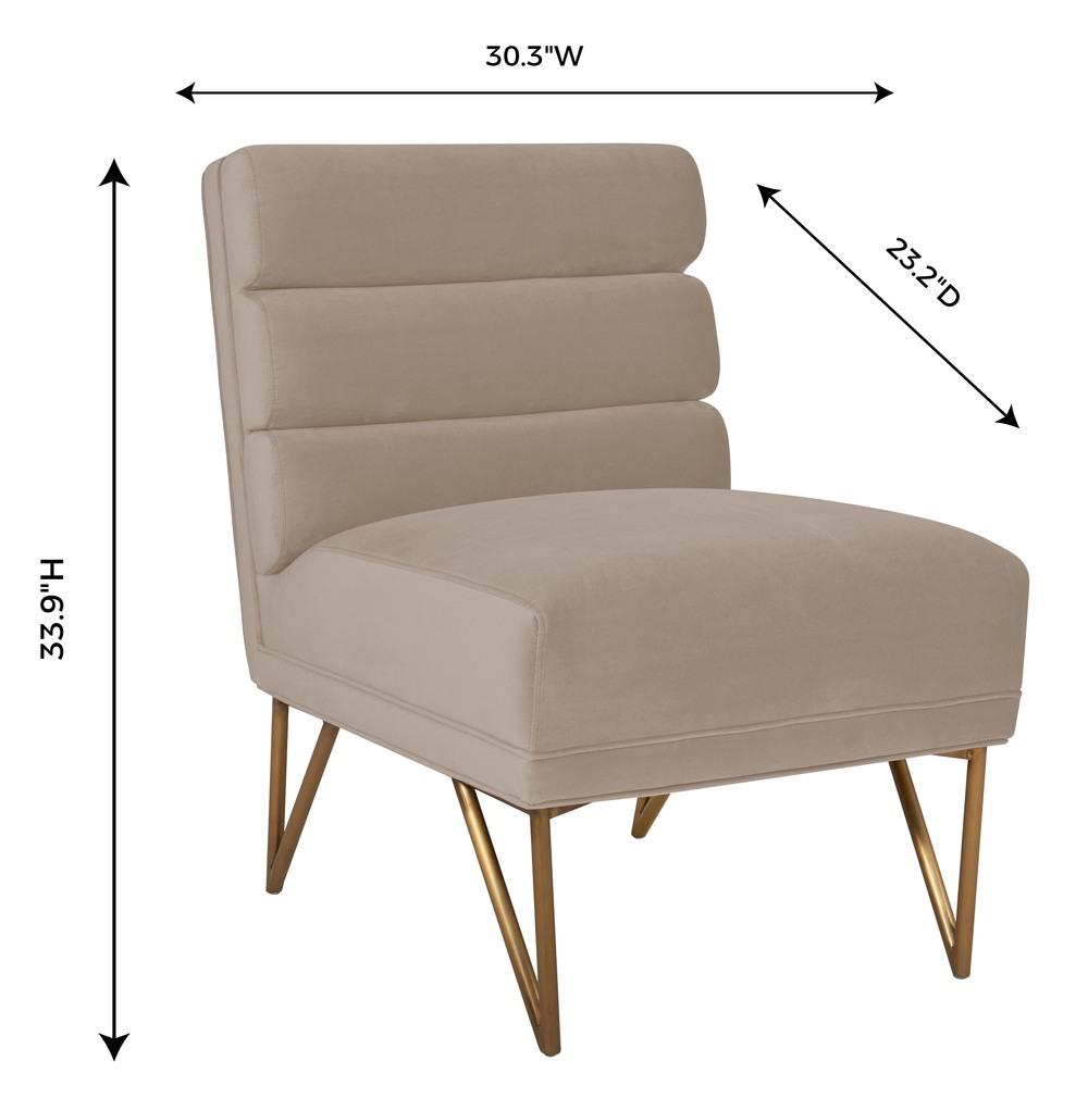 TOV Furniture - Kelly Slub Cream Velvet Chair