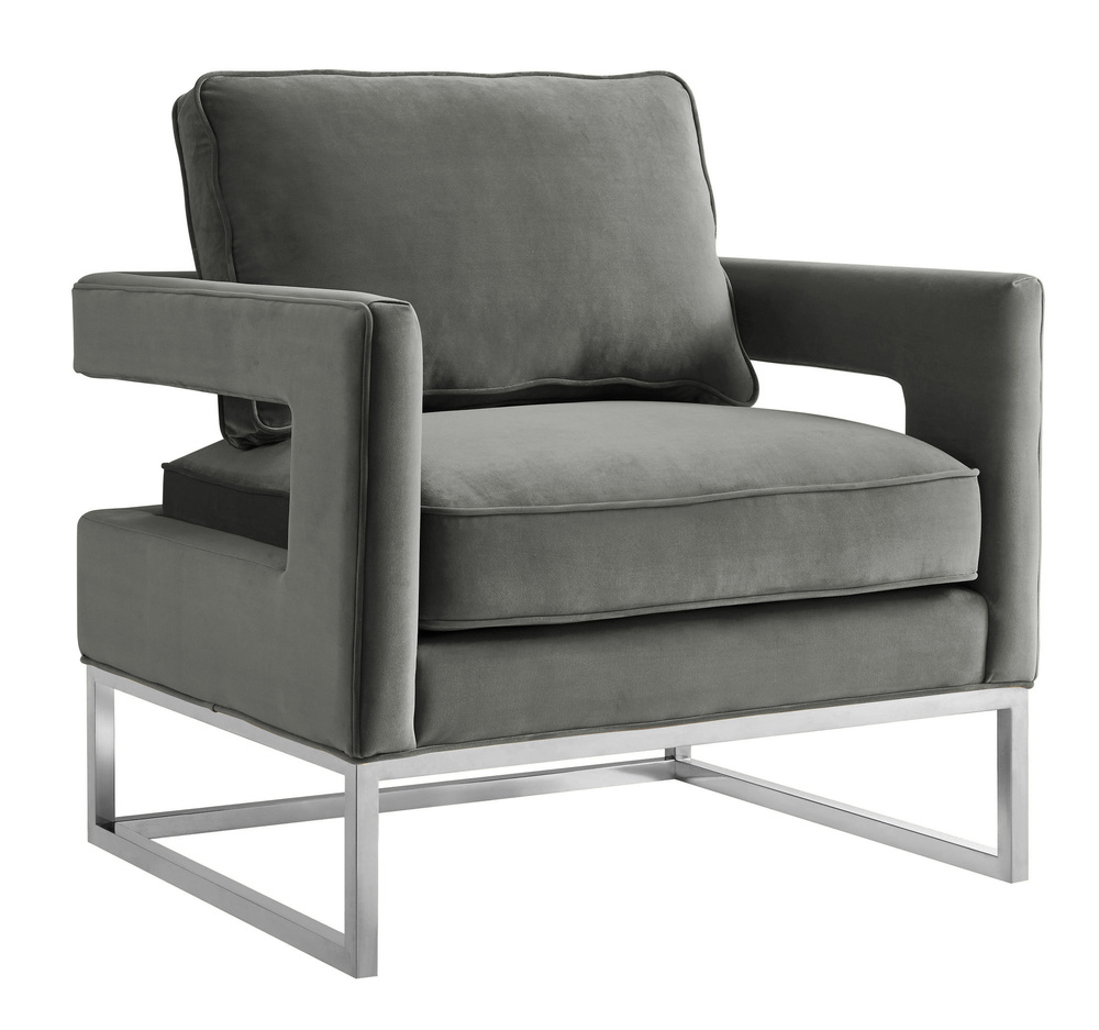 TOV Furniture - Avery Grey Velvet Chair