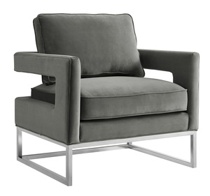 Thumbnail of TOV Furniture - Avery Grey Velvet Chair