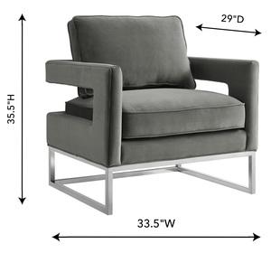 Thumbnail of TOV Furniture - Avery Grey Velvet Chair