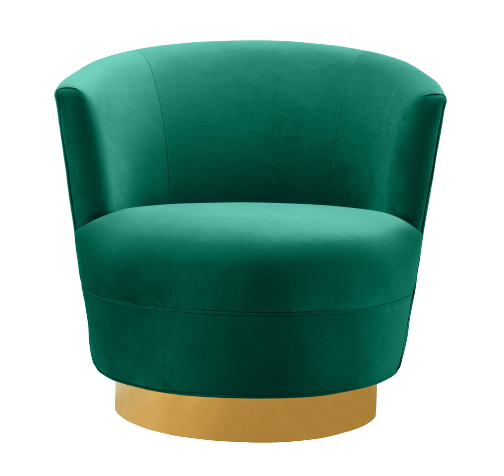 TOV Furniture - Noah Green Swivel Chair