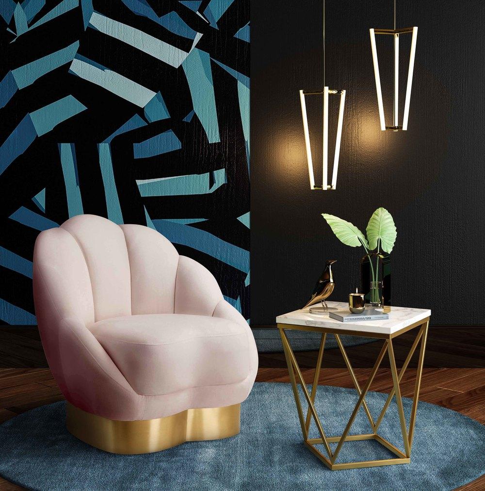 TOV Furniture - Bloom Blush Velvet Chair