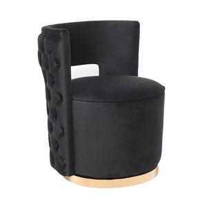 Thumbnail of TOV Furniture - Mimosa Black Velvet Swivel Chair