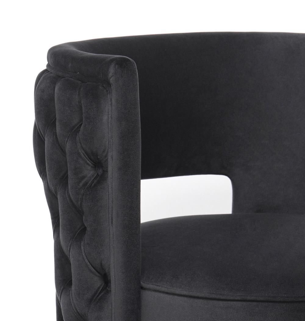 TOV Furniture - Mimosa Black Velvet Swivel Chair