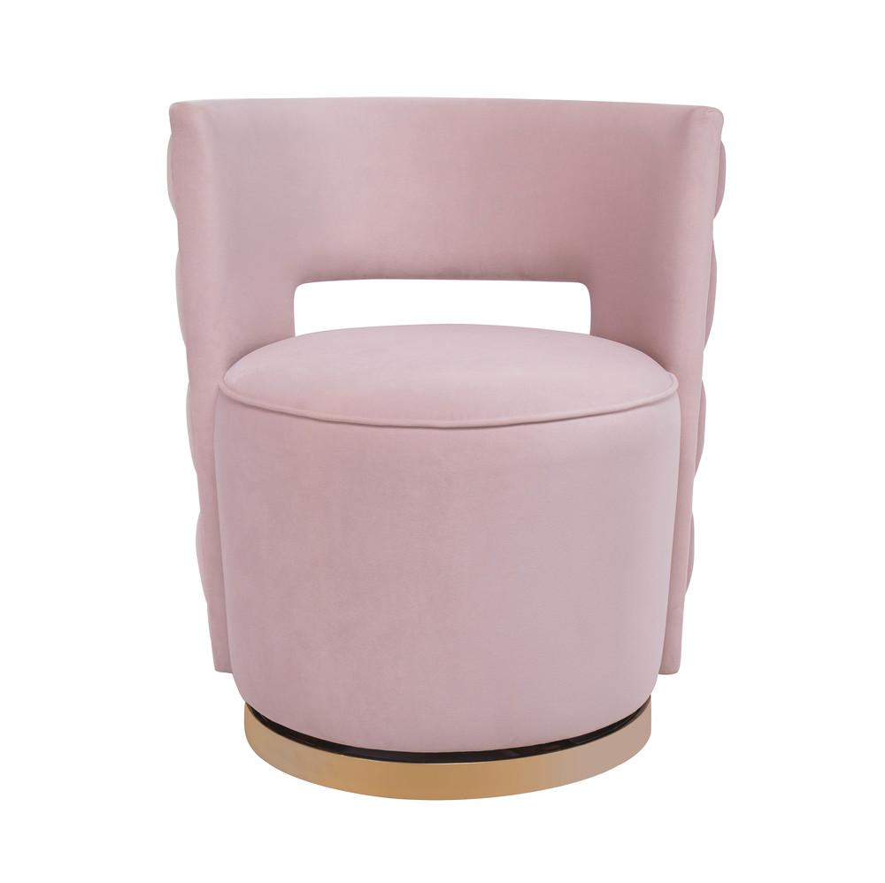 TOV Furniture - Mimosa Blush Velvet Swivel Chair