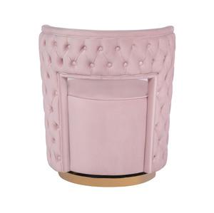 Thumbnail of TOV Furniture - Mimosa Blush Velvet Swivel Chair