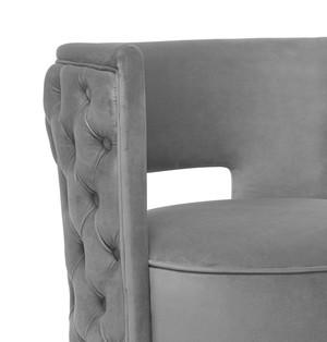 Thumbnail of TOV Furniture - Mimosa Grey Velvet Swivel Chair