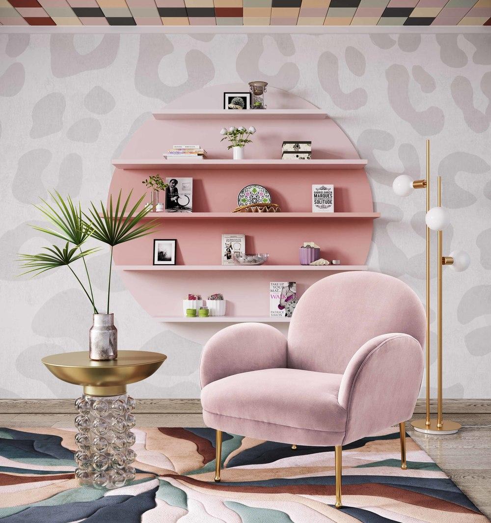 TOV Furniture - Gwen Mauve Velvet Chair